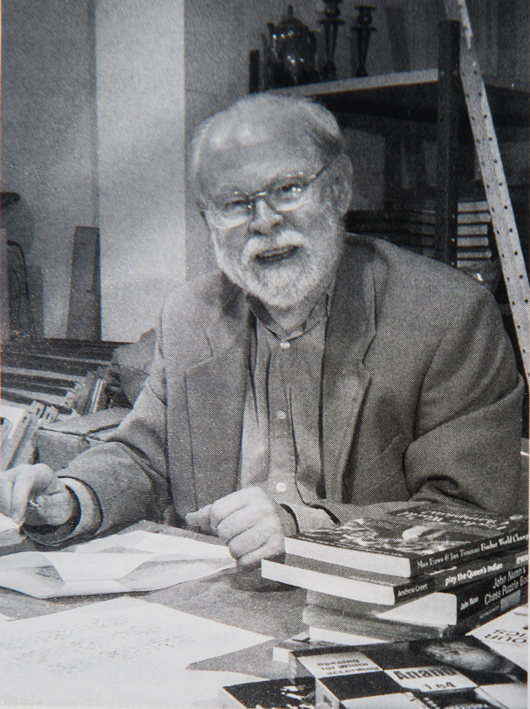 Associate Editor Bernard Cafferty,at work on the magazine in the BCM office, BCM, Volume 130, Number 8, p. 428