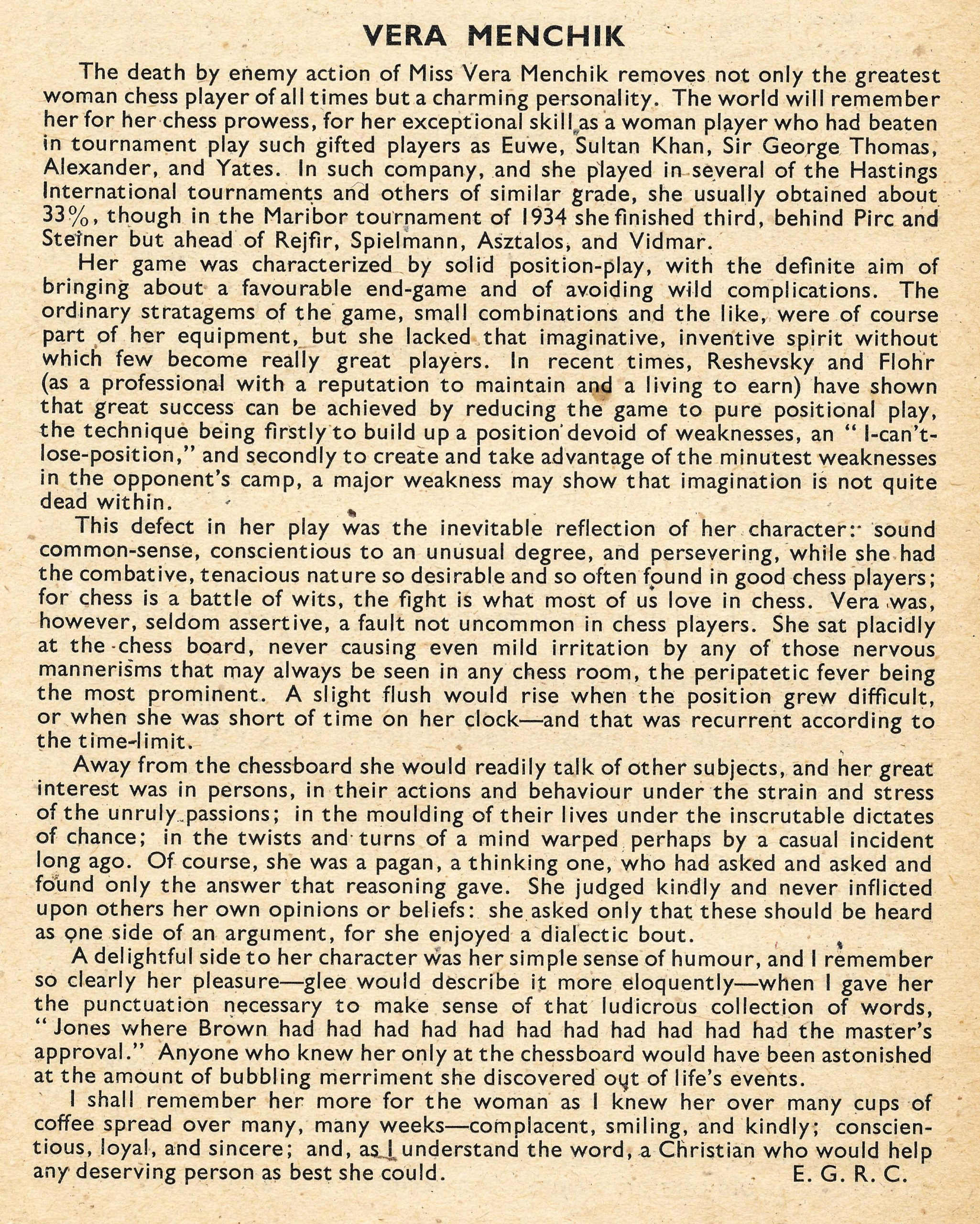 British Chess Magazine, Volume LXIV (1944), Number 8, August, Page 178