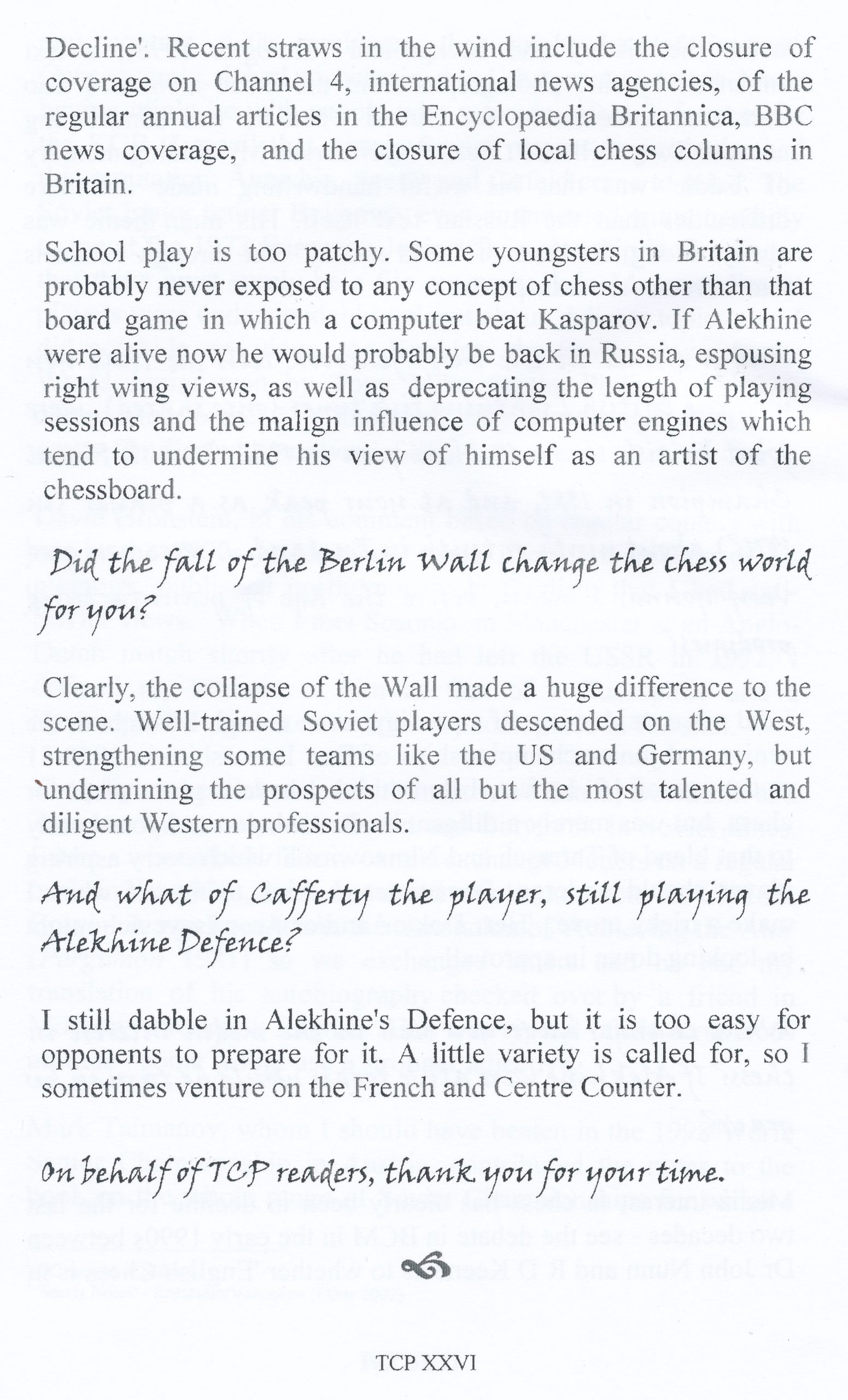 The Chess Parrot, XXVI, Winter/Spring 2009, page 26-5