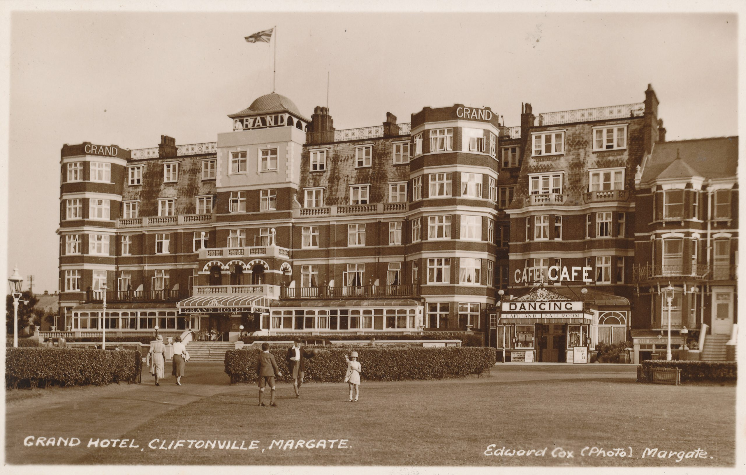 The Grand Hotel, Cliftonville, Margate. Venue for the Margate tournaments.