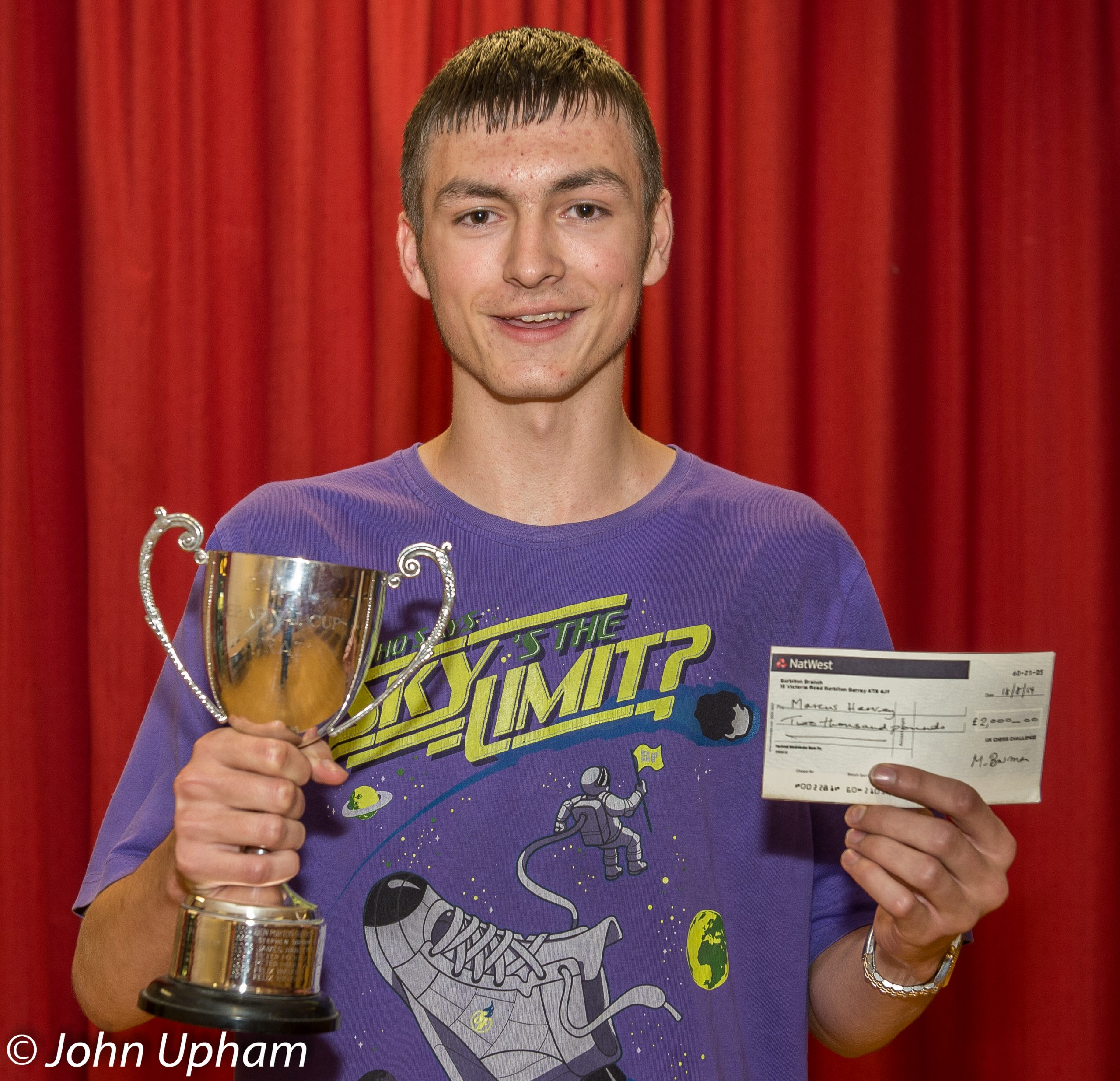 2014 Delancey UKCC Terafinal winner, Marcus Harvey at Loughborough Grammar School. Courtesy of John Upham Photography