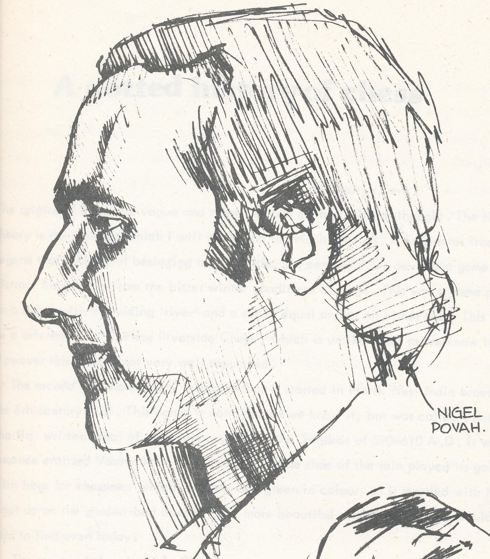 Nigel Povah, from Knightmare, Volume 2 (1976-77) drawn by Chris Jones.