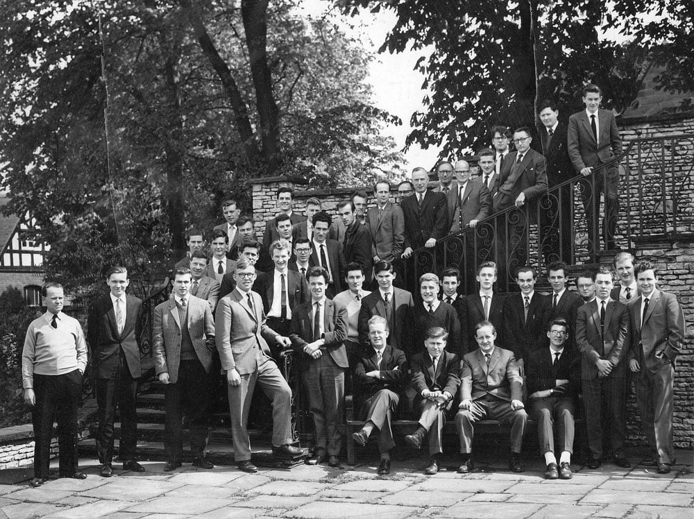 The Cedars Chess Club May 1962 - David is seated, second left. Photograph sourced from ECF obituary.