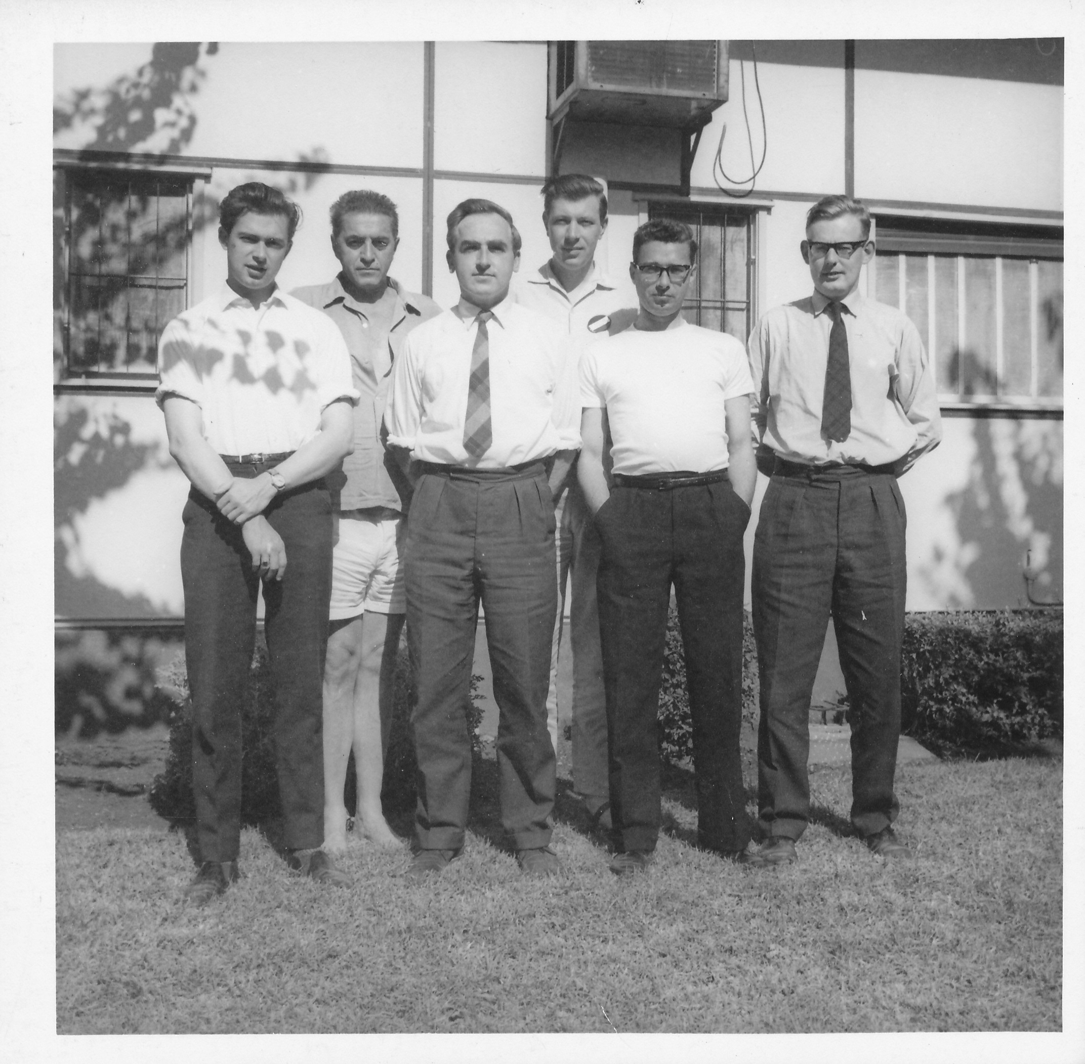 The 1964 England Olympiad (Tel Aviv) Team : Owen Hindle, Čeněk Kottnauer, Peter Clarke, Michael Franklin, Norman Littlewood & Michael Haygarth