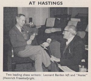 "Leonard Barden & ""Assiac"" (Heinrich Fraenkel)"
