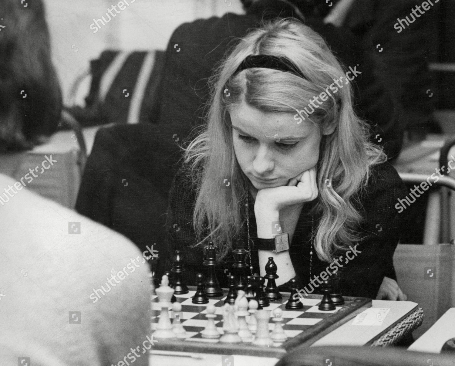 Dinah Dobson 22-year-old Champion British Chess Player Deep In Thought During Chess Competition In Hastings. Mandatory Credit: Photo by ANL/Shutterstock