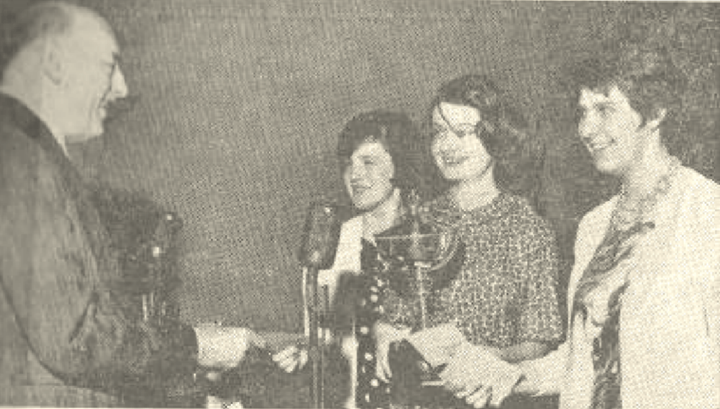 Marcia Syme, Dinah Dobson and Gillian Moore : 1964 joint British Girls's Champions