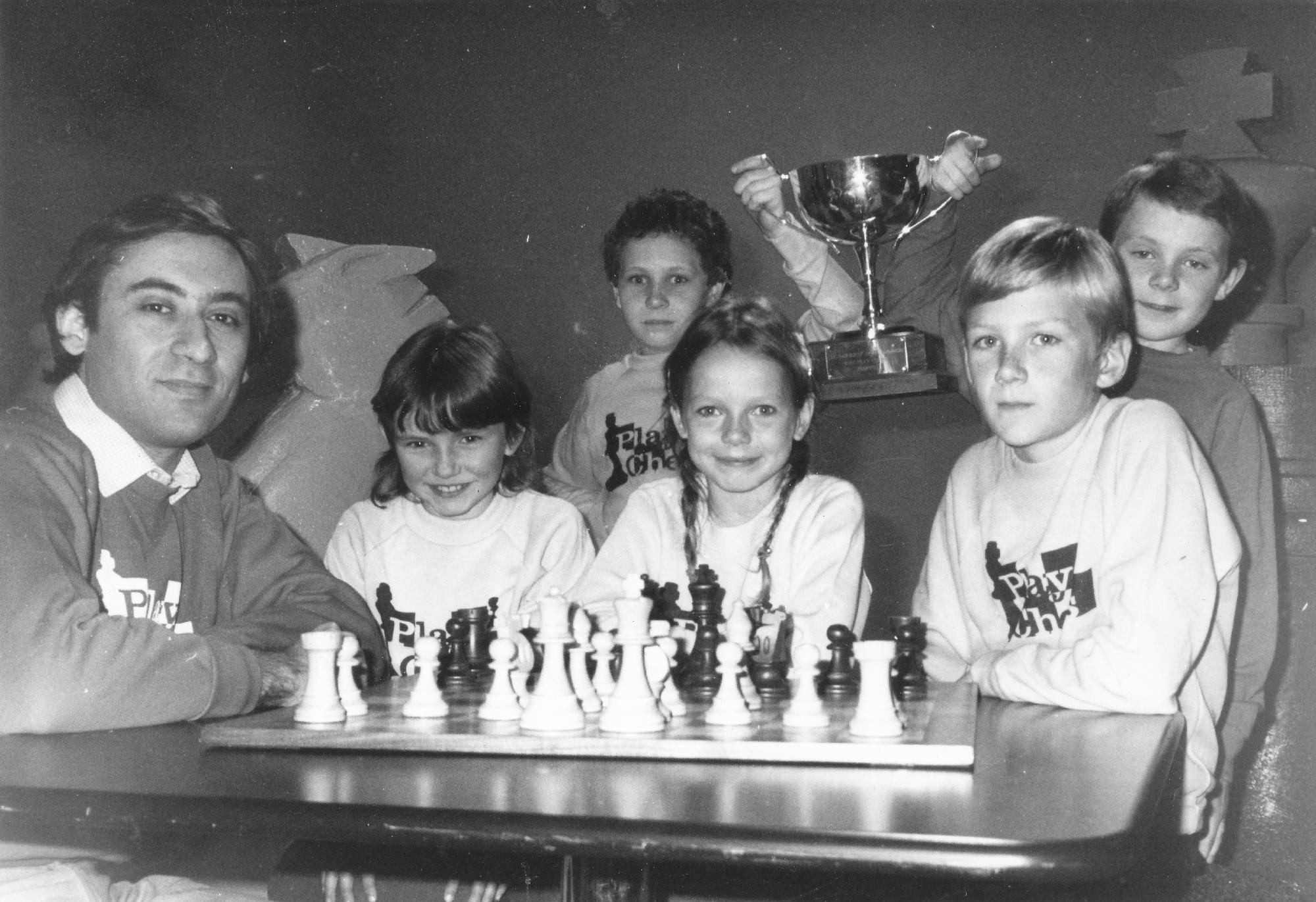 Bill was always a keen supporter of junior chess. event unknown.