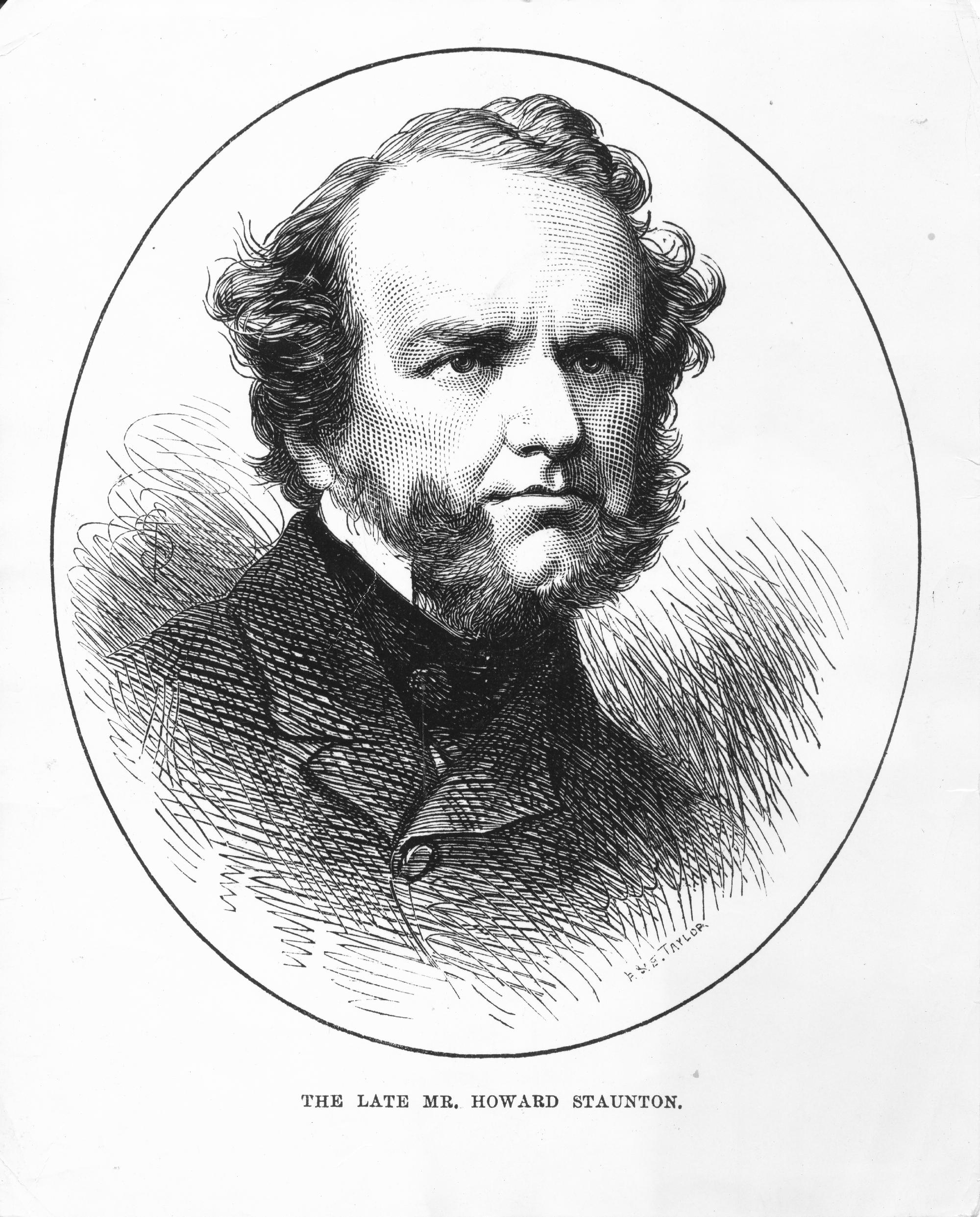 Howard Staunton, engraving by PME Taylor