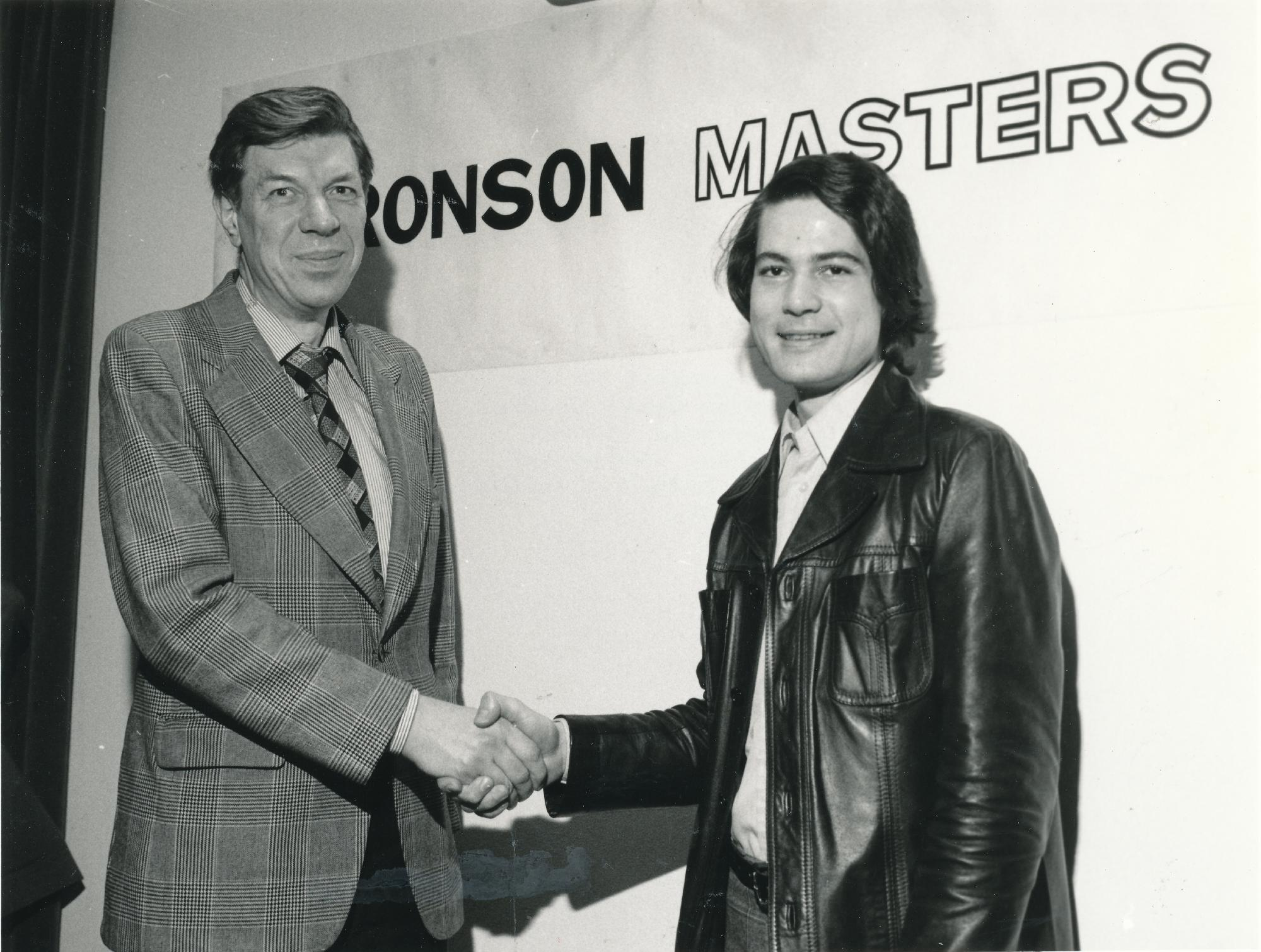 Joint winners of the 1978 Aaronson Masters : Michael Franklin and IM Aldo Haik