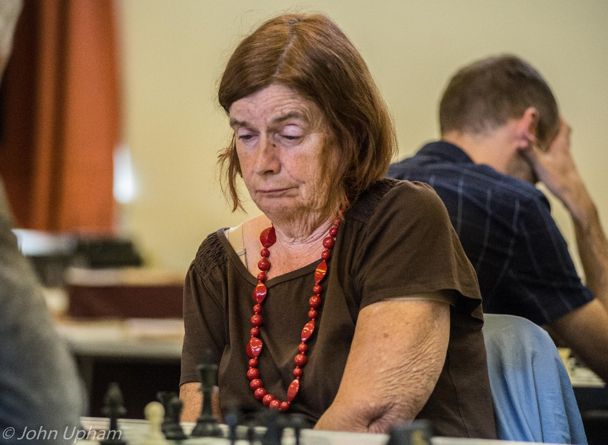 Dinah Norman at the 2017 Keith Richardson Memorial organised by Camberley Chess Club. Courtesy of John Upham Photographic