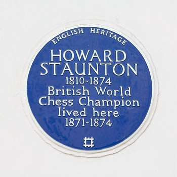 Blue Plaque for Howard Staunton