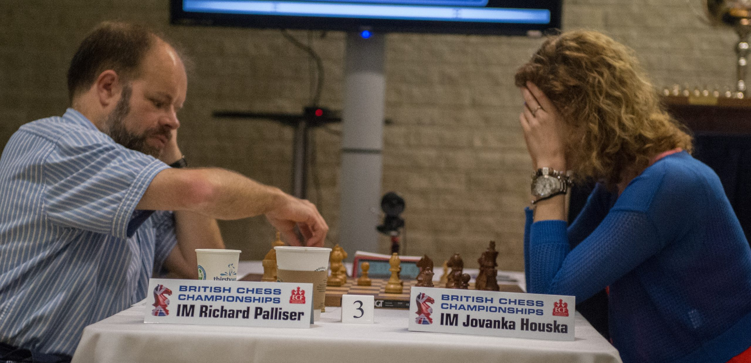 IM Richard Palliser and IM Jovanka Houska, British Championships, 2019