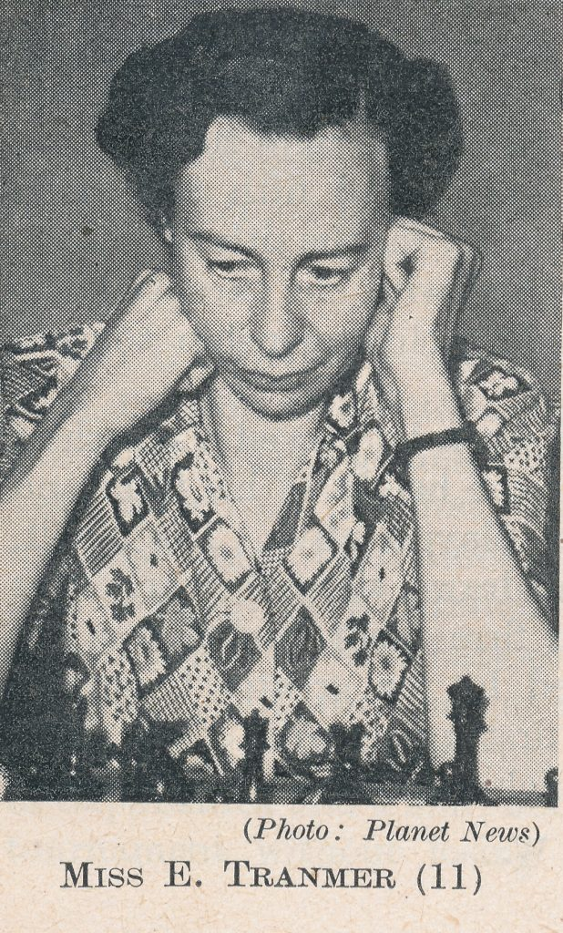 WIM Eileen Tranmer (05-v-1910 26-ix-1983). Source : The Anglo-Soviet Radio Chess Match