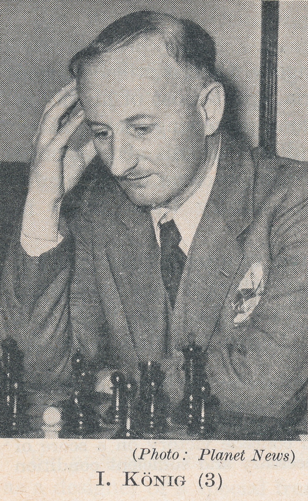 IM Imre (Mirko) König (2-ix-1901 9-ix-1992). Source : The Anglo-Soviet Radio Chess Match
