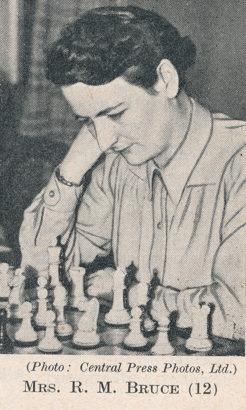 WIM Rowena Bruce (15-v-1919 24-ix-1999). Source : The Anglo-Soviet Radio Chess Match.