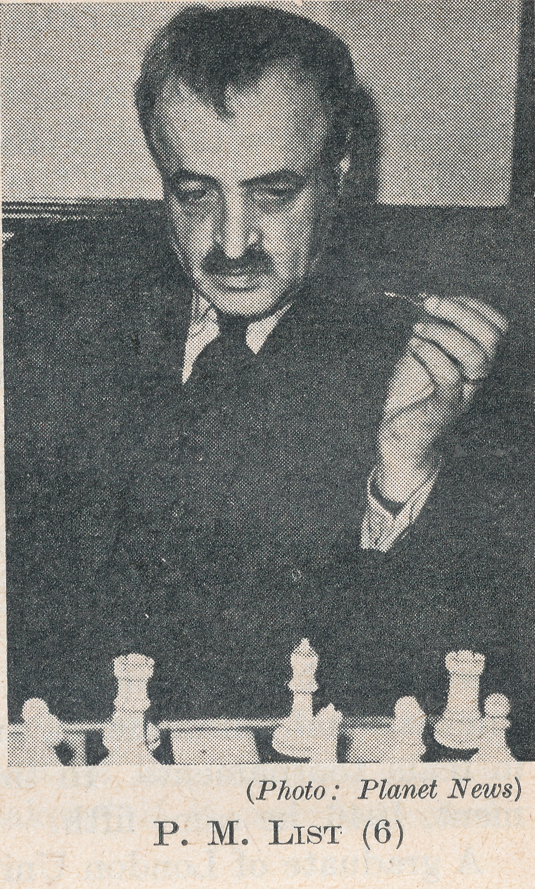Dr. Paul List (09-ix-1887 09-ix-1954). Source : The Anglo-Soviet Radio Chess Match.