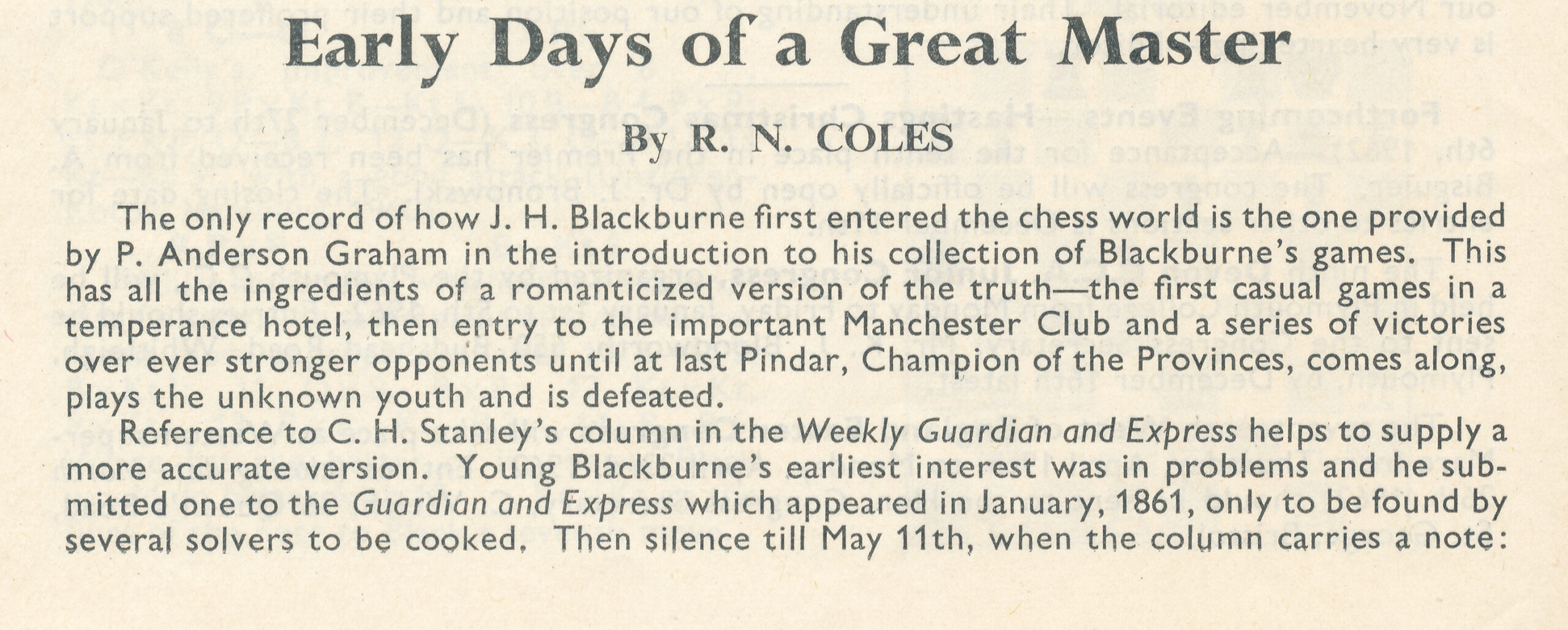 British Chess Magazine, Volume LXXX1 (1961), Number 12 (December), page 340