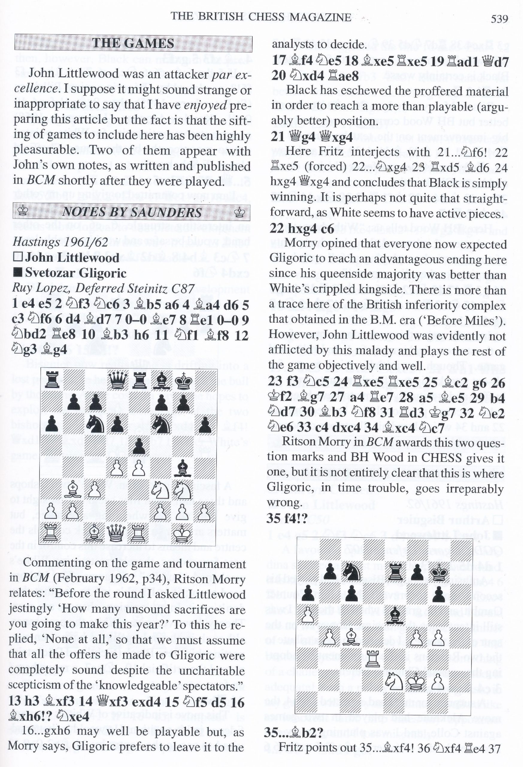 British Chess Magazine, Volume CXXIV (129), 2009, Number 10, October, page 539