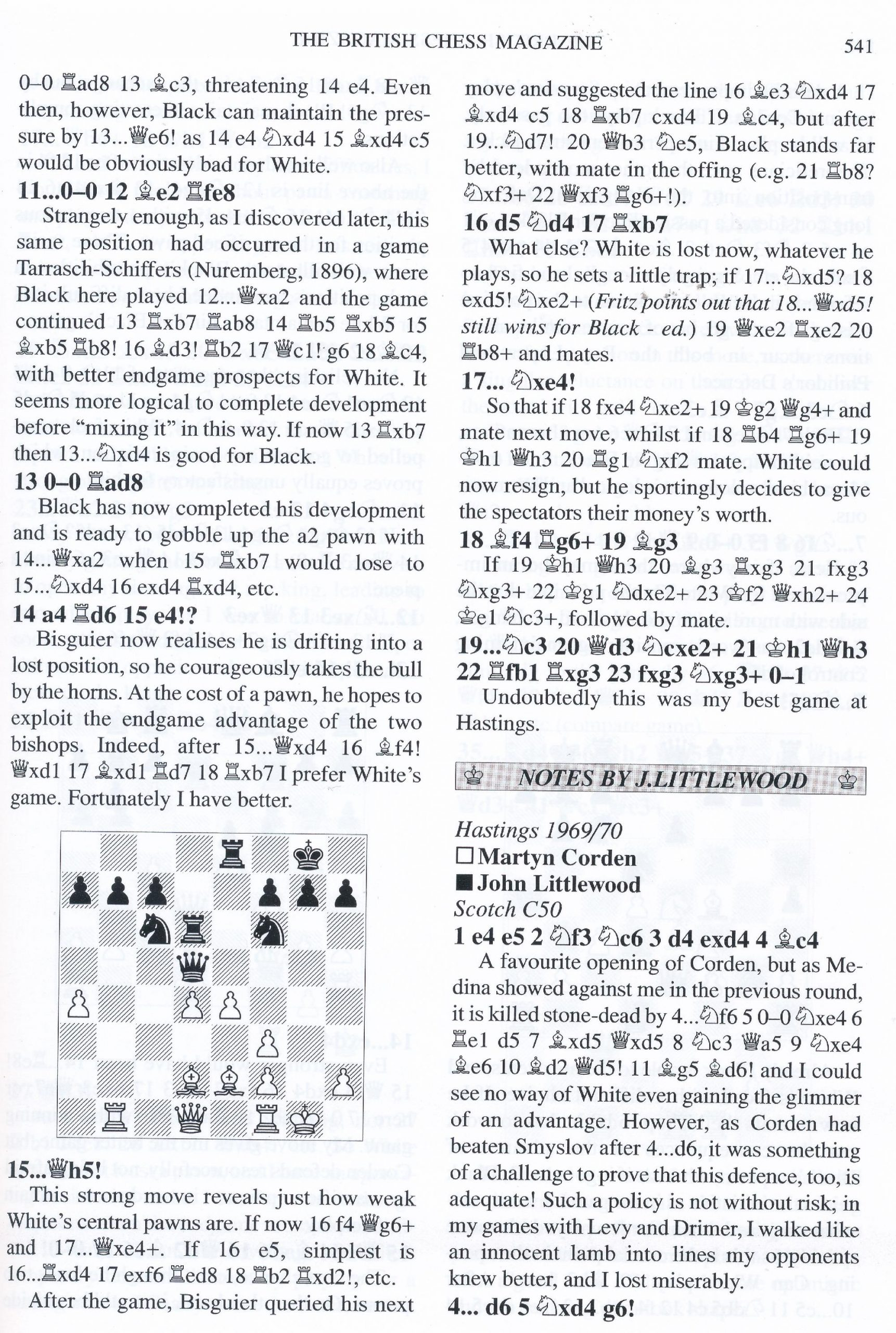 British Chess Magazine, Volume CXXIV (129), 2009, Number 10, October, page 541