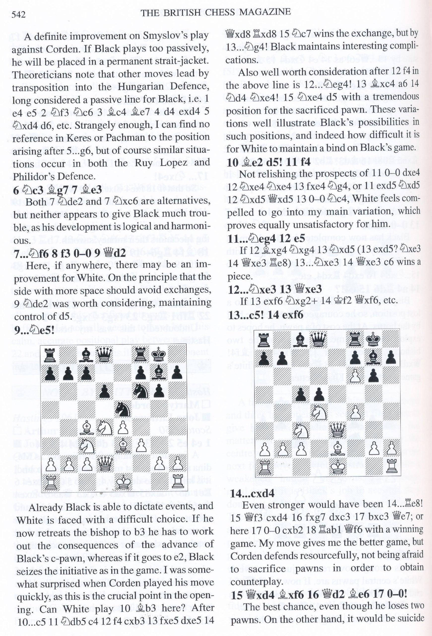 British Chess Magazine, Volume CXXIV (129), 2009, Number 10, October, page 542