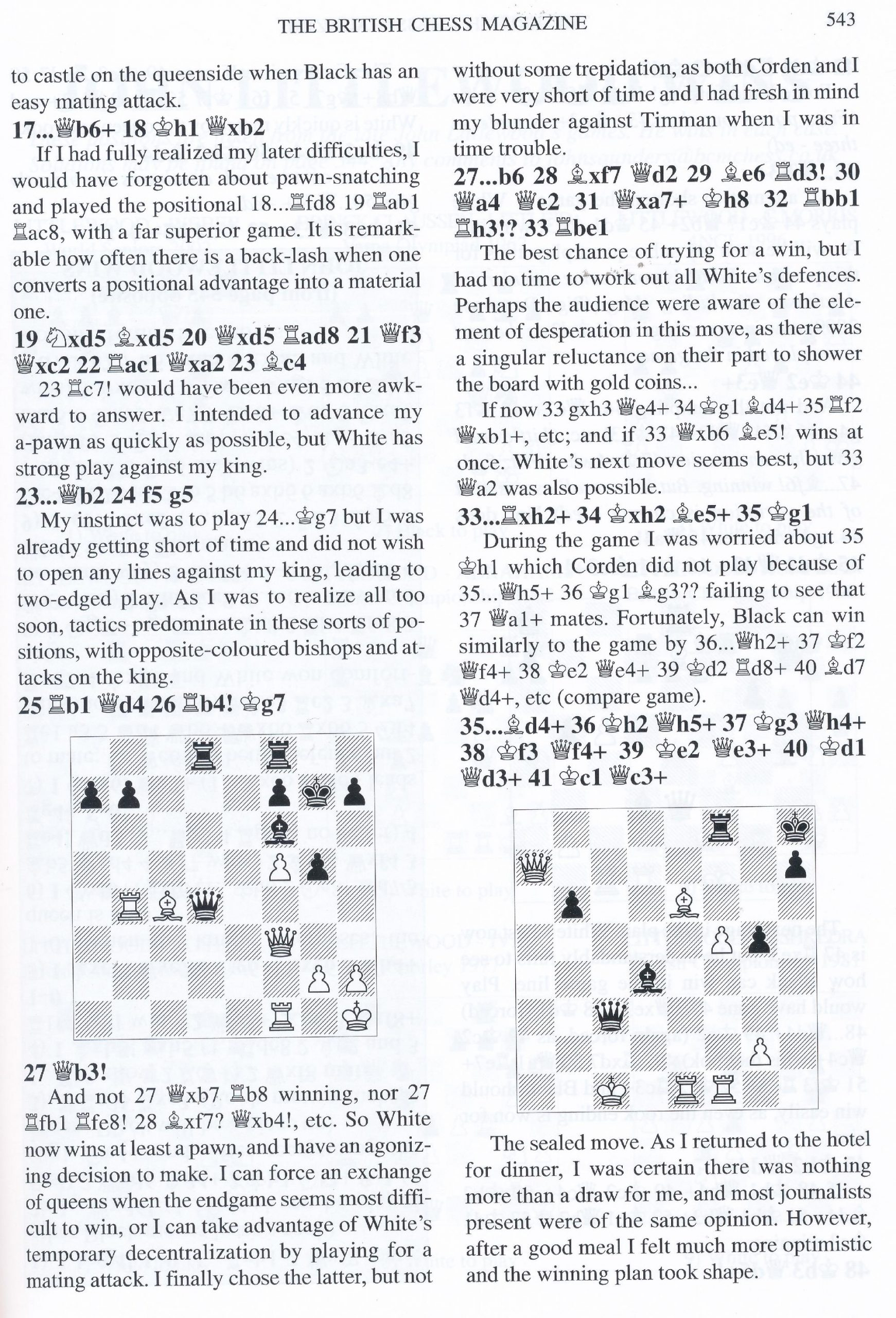 British Chess Magazine, Volume CXXIV (129), 2009, Number 10, October, page 543