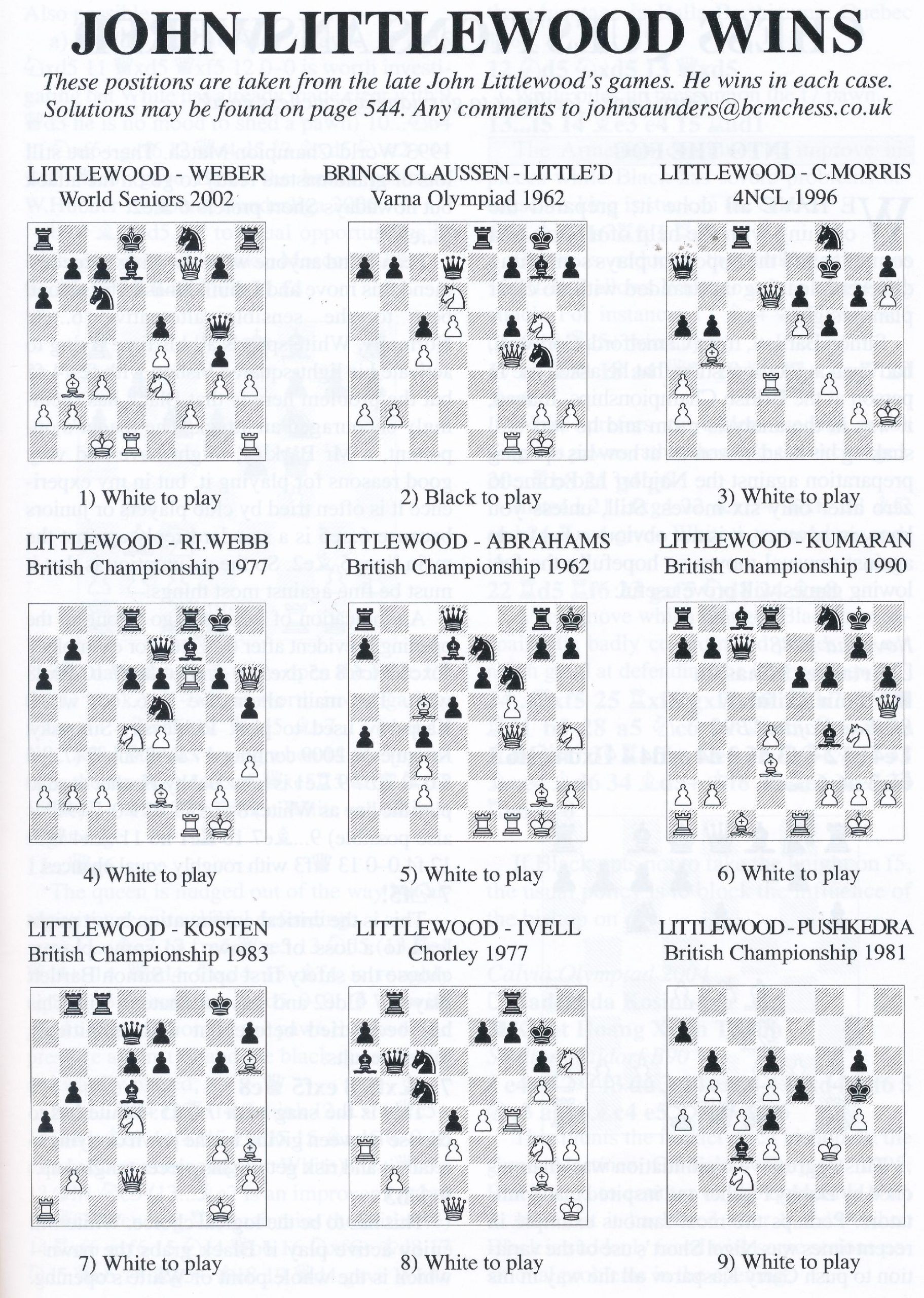 British Chess Magazine, Volume CXXIV (129), 2009, Number 10, October, page 545