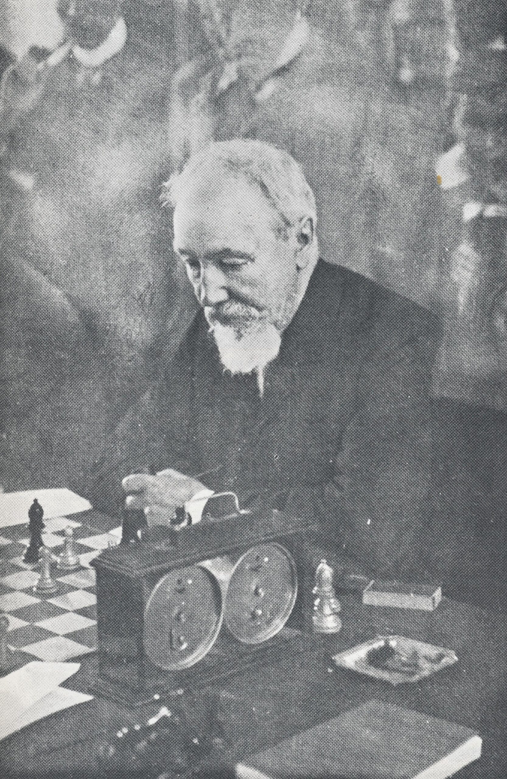 Joseph Blackburne (10-xii-1841 01-ix-1924). Photograph from The Encyclopedia of Chess by Harry Golombek