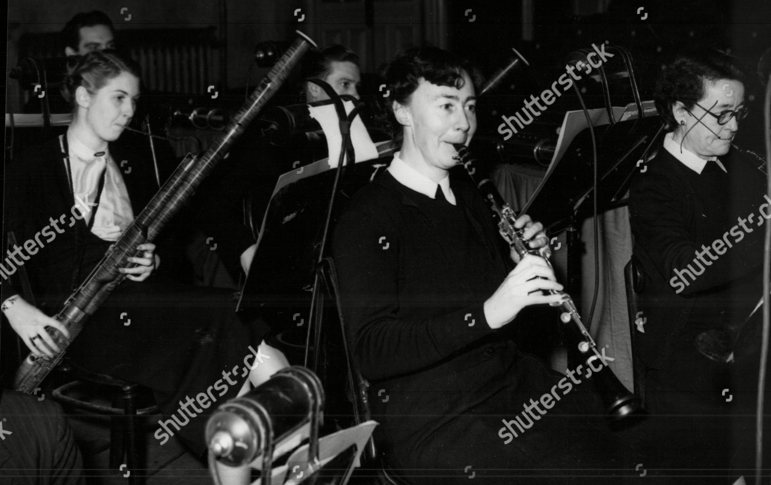 Mandatory Credit: Photo by ANL/Shutterstock (3880870a) Miss Eileen Tranmer The British Women's Chess Champion Pictured Here Playing A Clarinet In The Orchestra While Appearing At The Theatre Royal Glasgow.