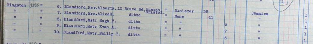 Passenger Manifest (part) for SS Carare , 30th May 1926.