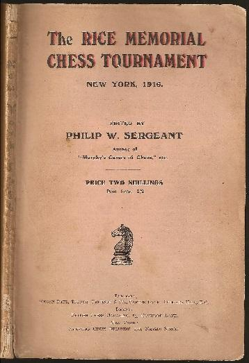 The Rice Memorial Chess Tournament, 1916