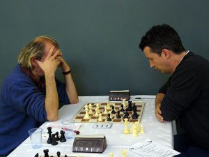 Stuart Conquest vs Michael Hennigan at 4NCL,, photo by Meri Grigoryan