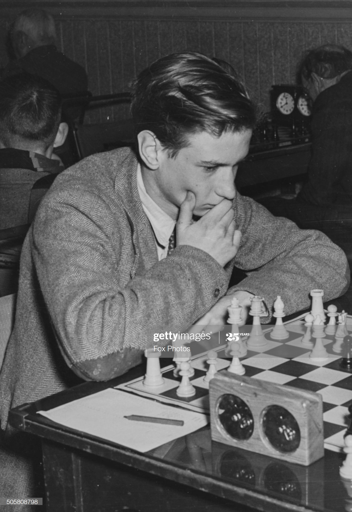 Jonathan Penrose Chess Grandmaster Jonathan Penrose pictured during a chess match, circa 1960. (Photo by Fox Photos/Hulton Archive/Getty Images)