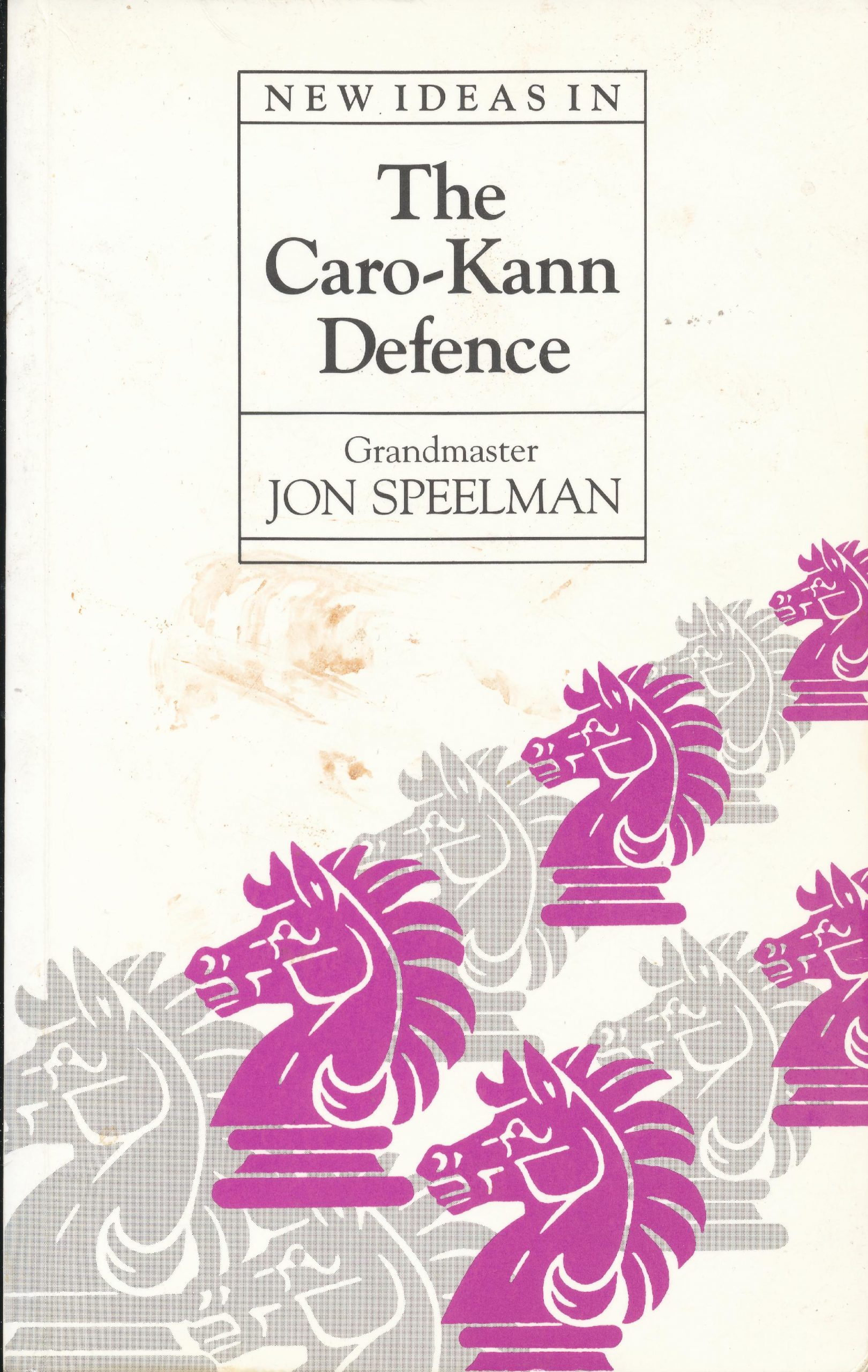 Speelman, Jon (1992). New Ideas in the Caro-Kann Defence. BT Batsford (London, England). 155 pages. ISBN 0-7134-6915-3.