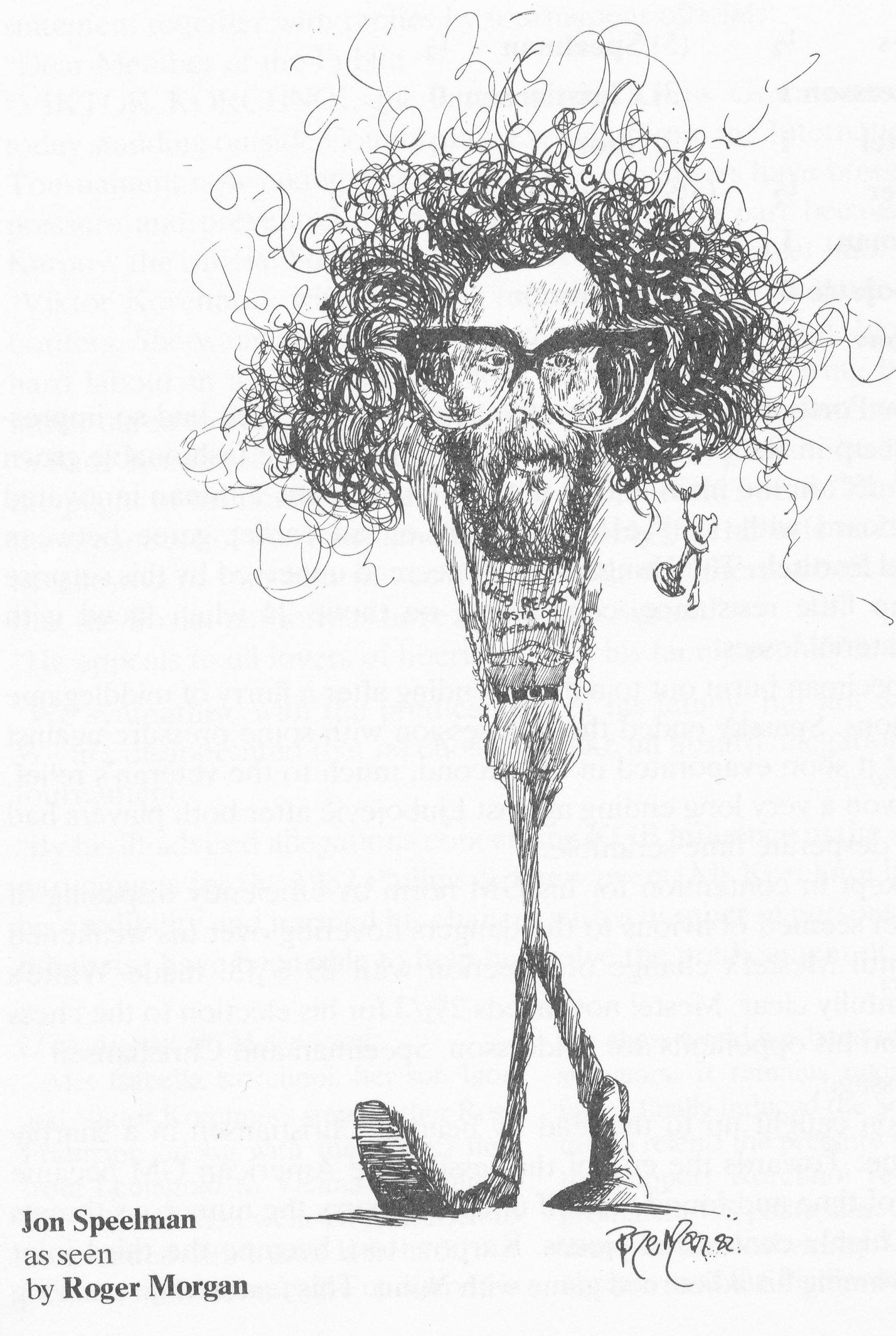 Jonathan Simon Speelman (02-x-1956) as imagined by Roger Morgan, 1982