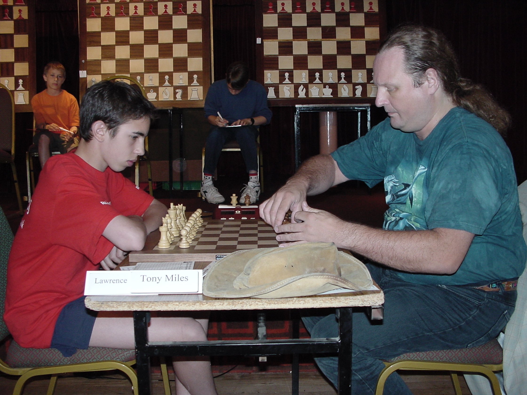 Lawrence Trent plays Tony Miles in 2001 at the British Championships in Scarborough
