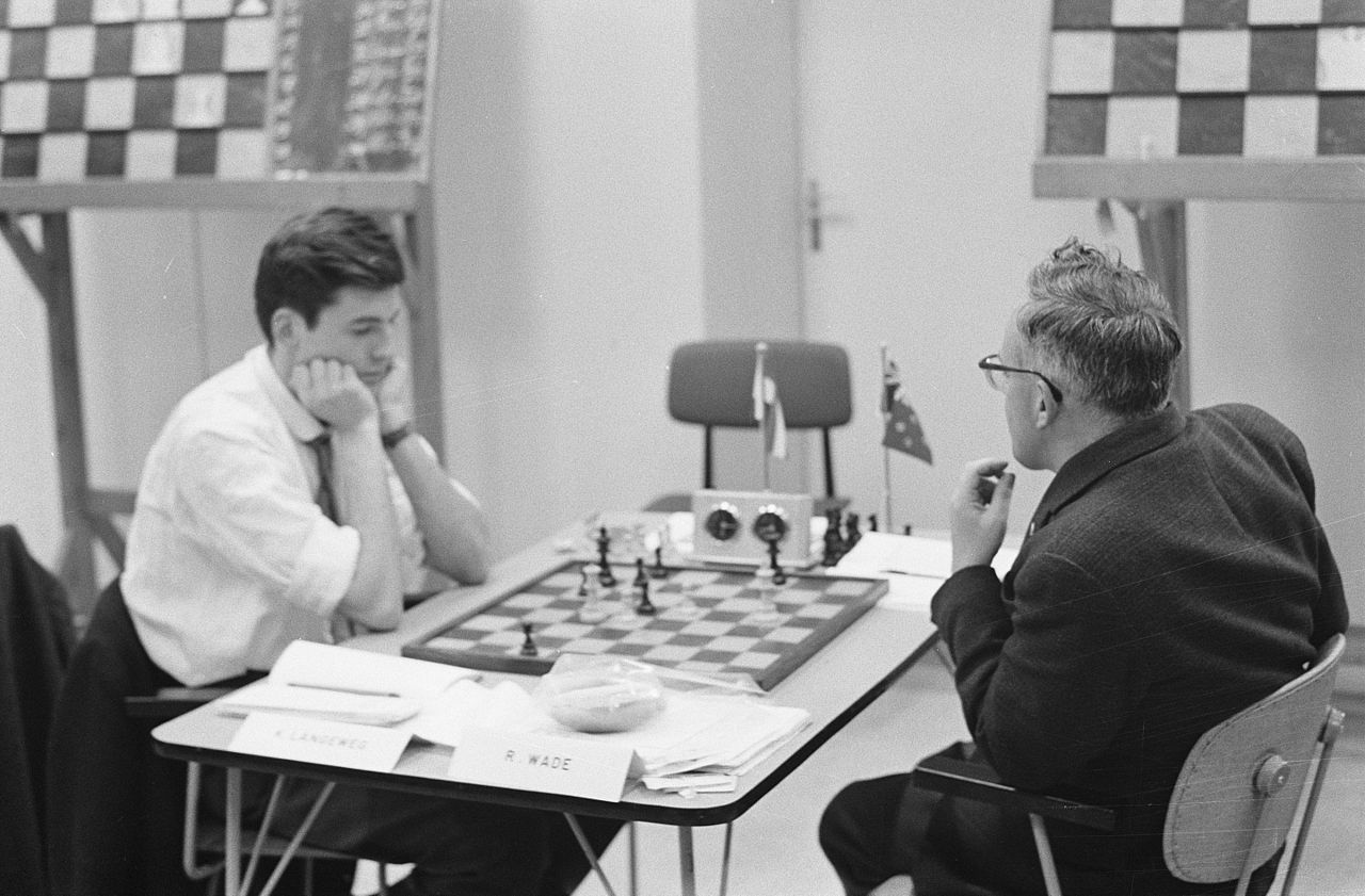Bob playing Kick Langeweg at IBM 1961.