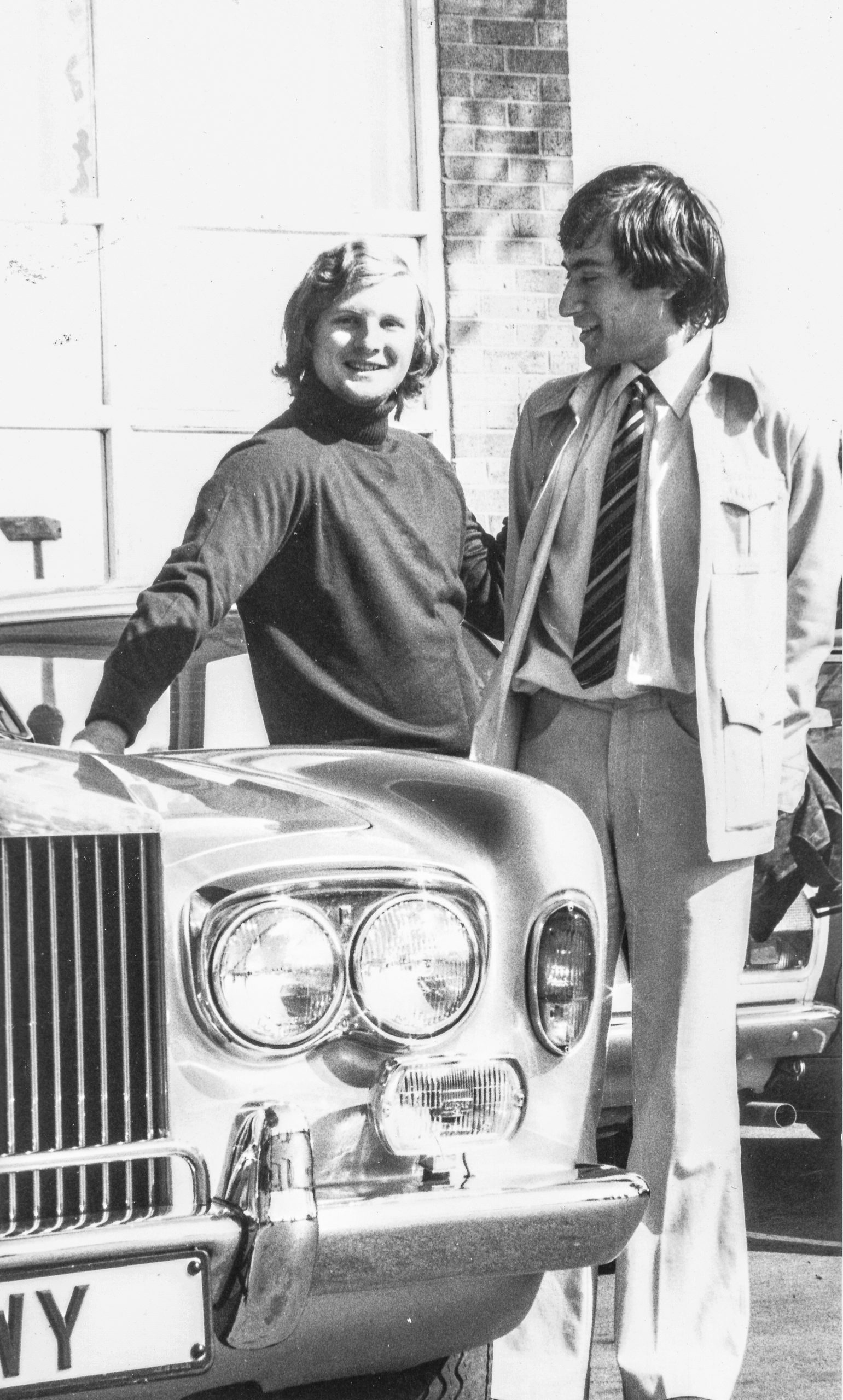Tony Miles & Bill Hartston admire a Rolls-Royce