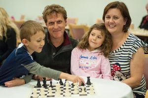 Gary & family at the London Chess Classic, photograph by John Upham