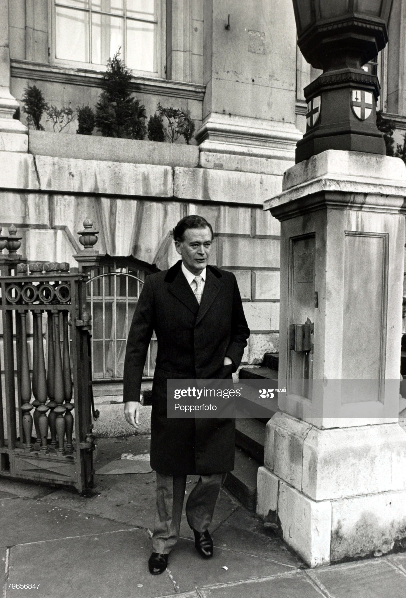 Personalities, Crime, pic: 3rd December 1976, Financier Jim Slater arriving at London's Mansion House Police Court to face fraud charges involving more than 4,000,000 (Photo by Popperfoto via Getty Images/Getty Images)