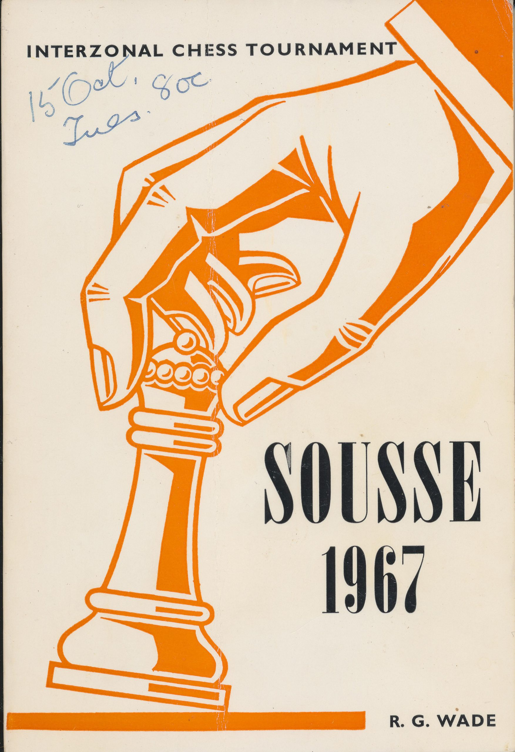 Sousse 1967 : International Chess Tournament, RG Wade, The Chess Player, 1968