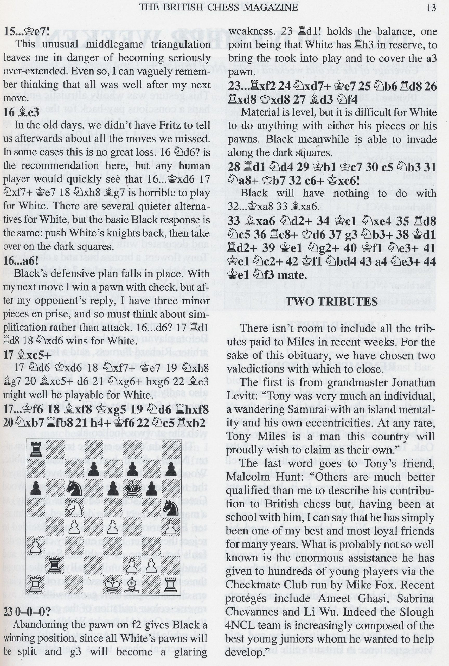British Chess Magazine, Volume CXXII (122, 2002), Number 1 (January) pp. 6-13