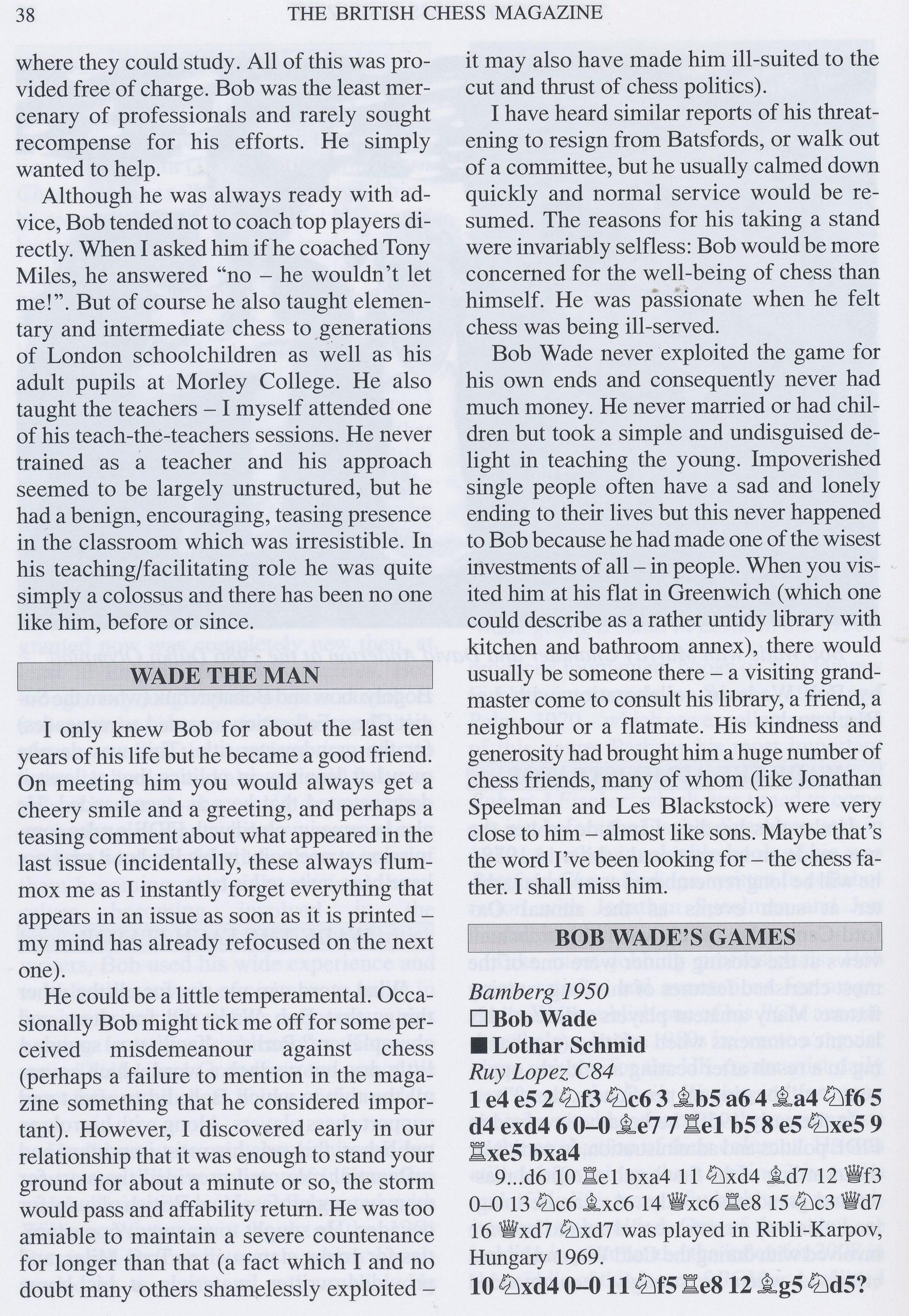 British Chess Magazine, Volume CXXIX (129, 2009), #1 (January), pp. 34-43
