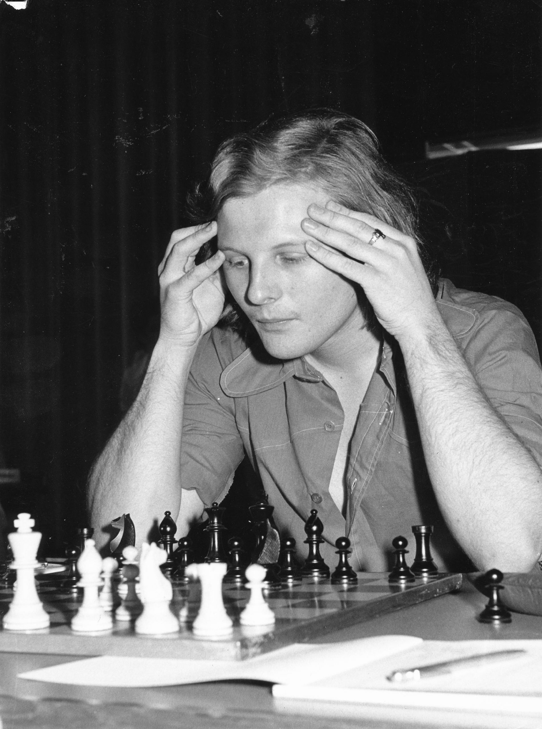 Tony Miles at Wijk aan Zee 1976. Korchnoi was first. Photo taken by Brian or Freddy Reilly