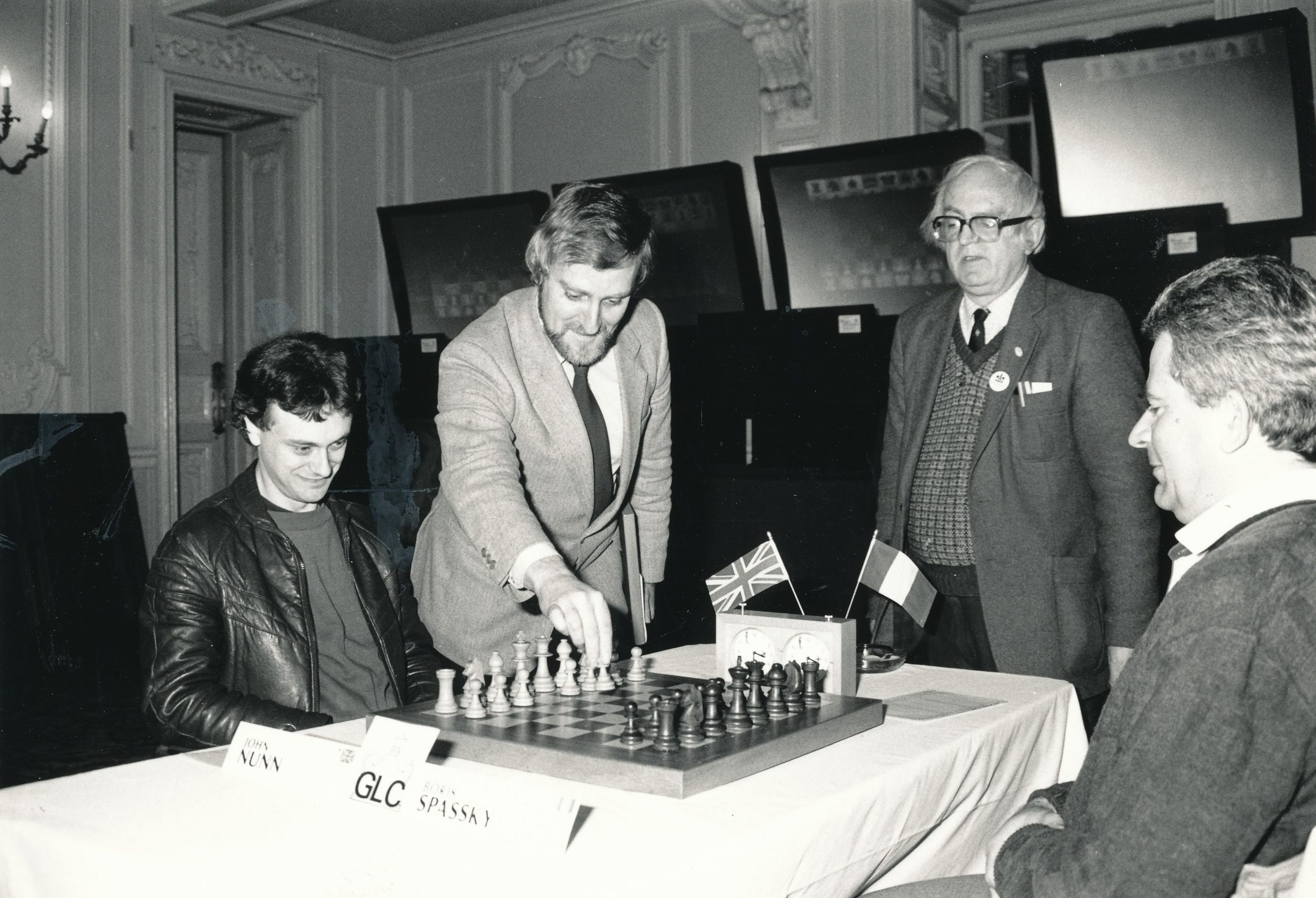 Bob with John Nunn and Boris Spassky at the GLC Masters