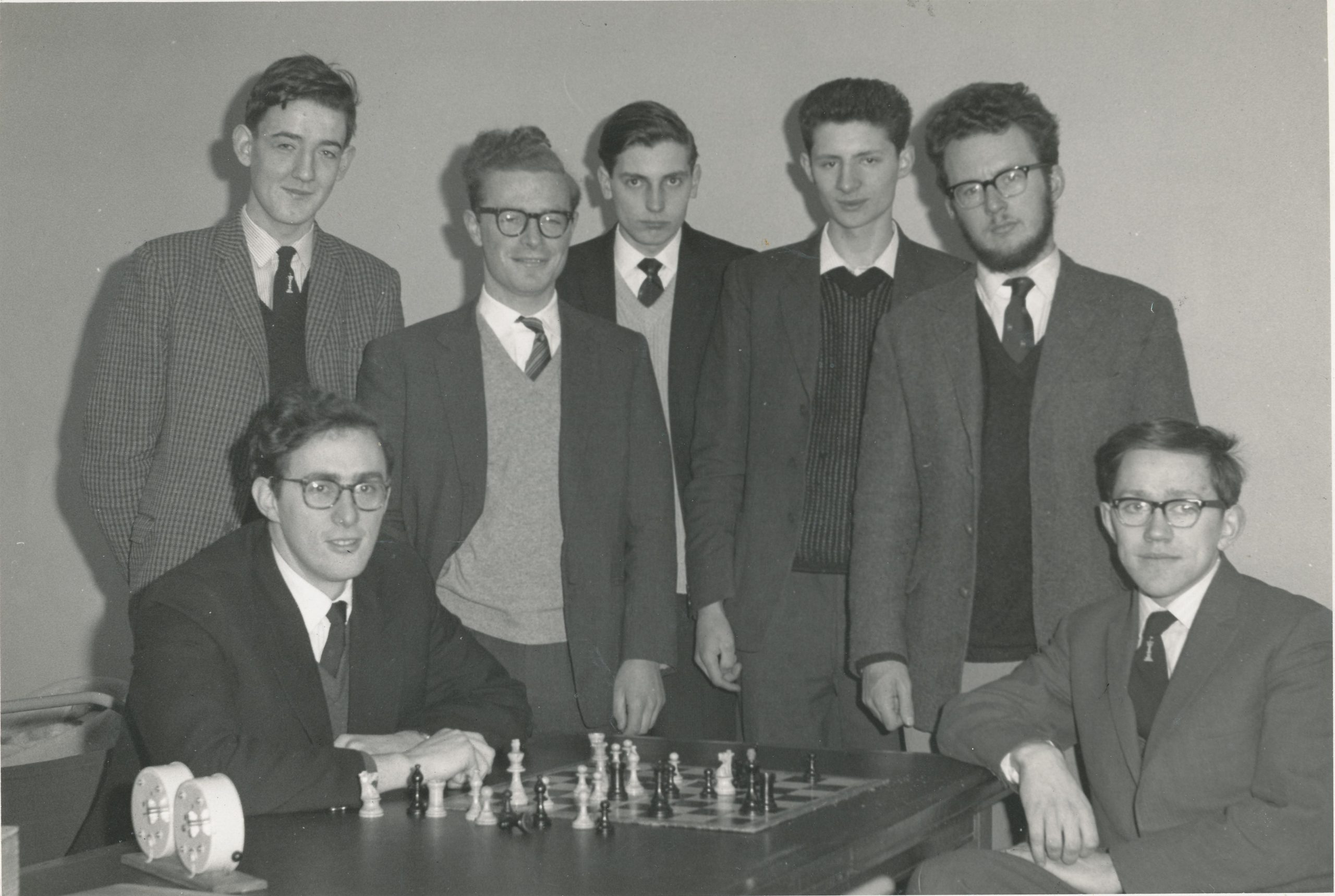 The winning 1963 Oxford Varsity match team : From left to right (standing): PN Lee, JWF May, GC Taylor, AIN Brodie, PD Yerbury; (sitting) JK Footner, RW Morgan. Thanks : John Saunders in Britbase.