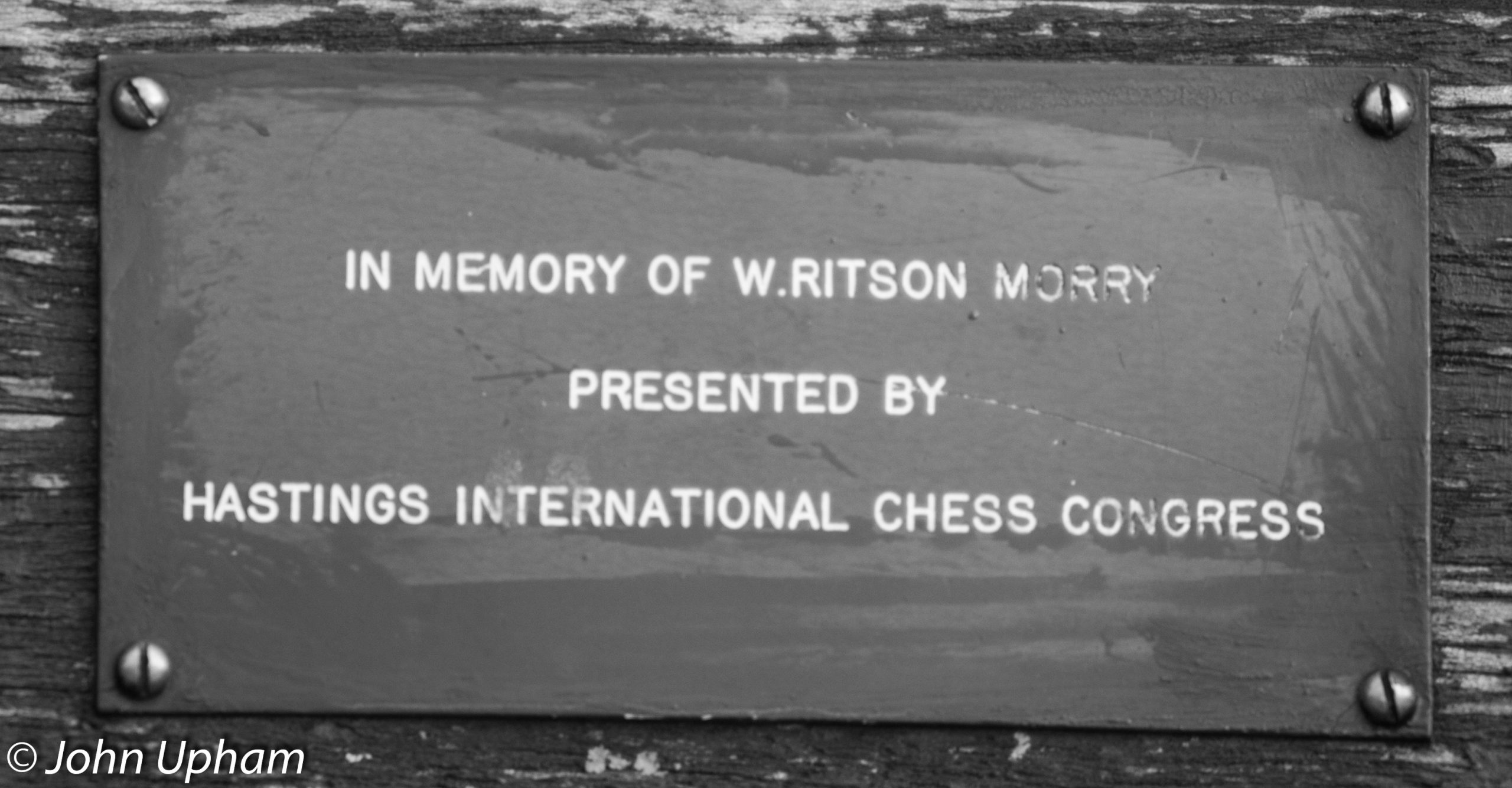 Hastings bench memorial bench for William Ritson Morry