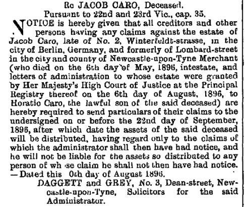 The London Gazette, 1896