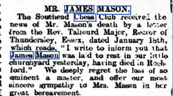 James Mason (19-XI-849, 15-I-1909)