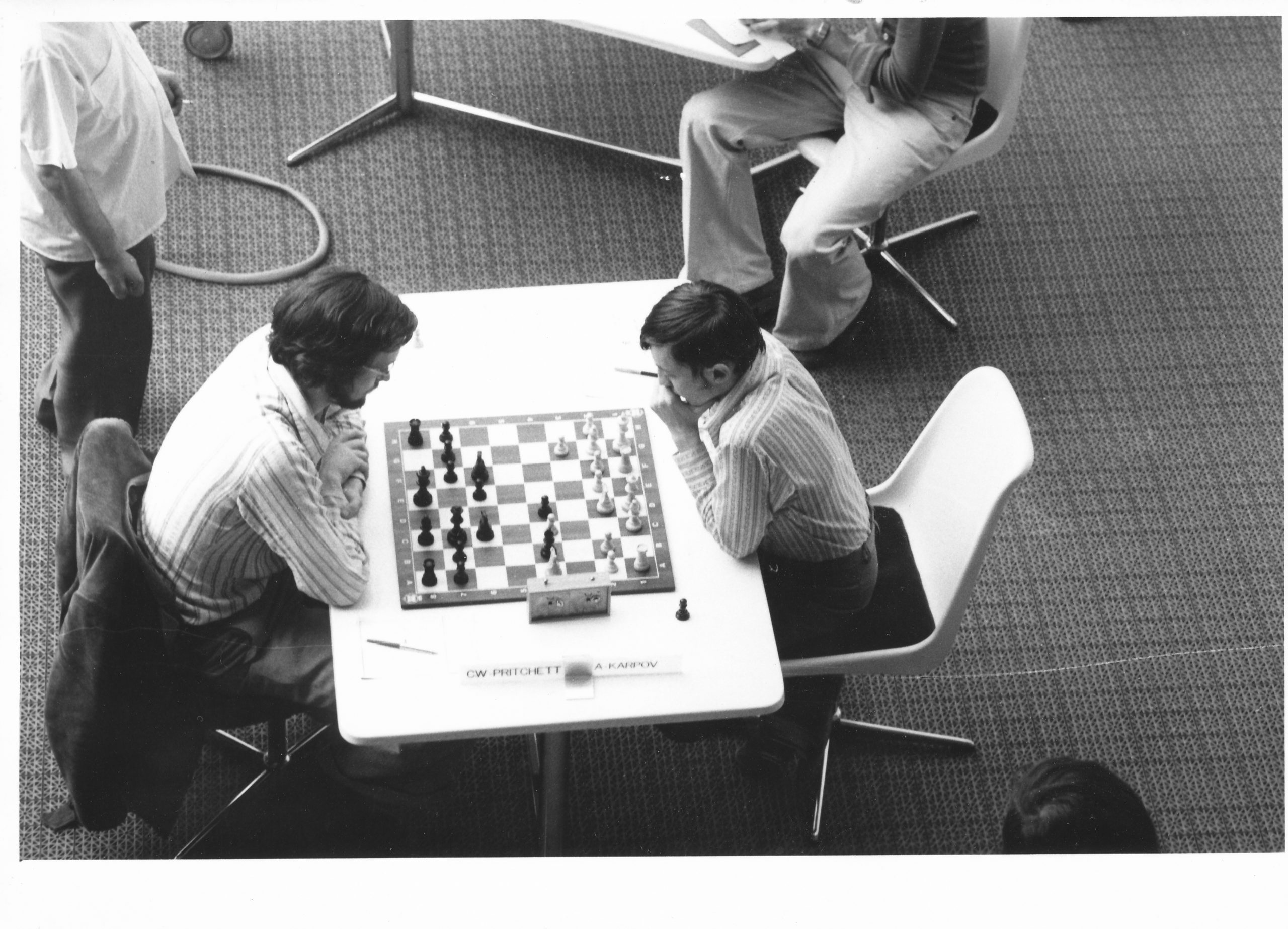 Pritchett playing Karpov at Nice 1974.